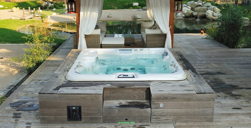 Sundance Spas hot tub install in Papillion, NE